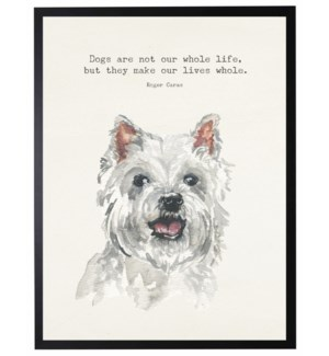 Watercolor Westie with Dogs are not quote