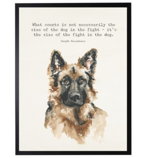 Watercolor German shepherd with What counts quote