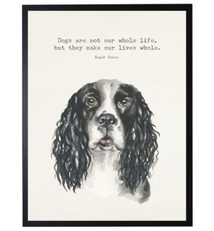 Watercolor Spaniel with Dogs are not quote