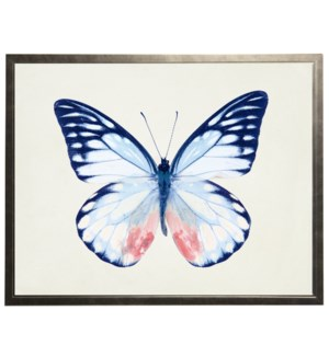 Blue with pink butterfly
