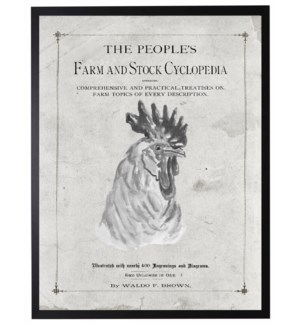 Farmhouse rooster on title page