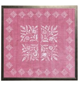 Pink block print M
