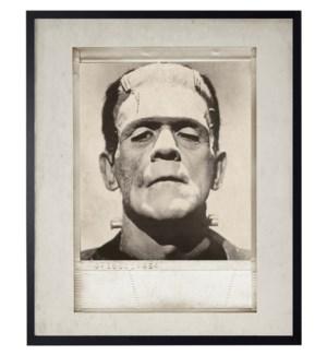 Vintage Frankenstein photo in frame