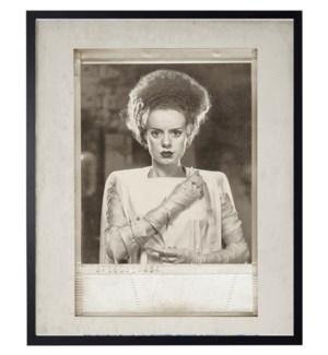 Vintage Frankenstein's Bride photo in frame
