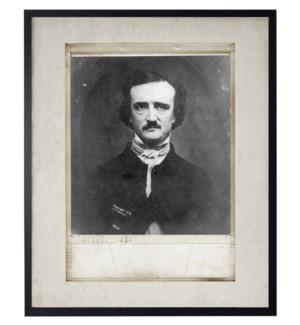 Vintage Edgar Allen Poe photo in frame