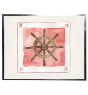 Watercolor Ship Wheel