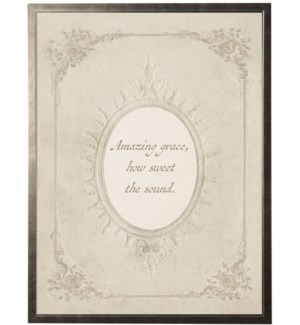 Amazing Grace quote in feminine oval border