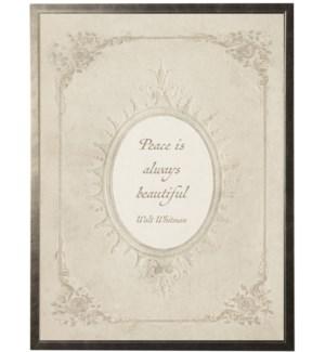 12X16 1380-60 Whitman Peace quote in feminine oval border