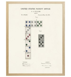 Dominos patent on light background
