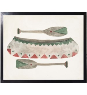 Lake Collection red/green canoe