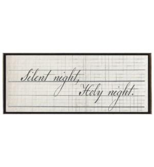 Silent Night, Holy night in Black