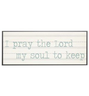 I pray the Lord my soul to keep in blue print