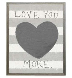 I love you more heart in pastels