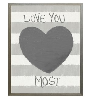 I love you most heart in pastels