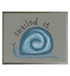 Snailed it with blue pastel snail