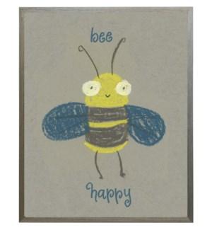 Bee happy bee in pastels