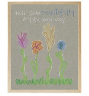 Flower grow beautifully in pastels