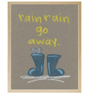 Rain go away mouse in pastels