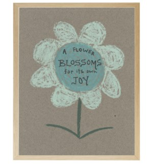 Flowers blossom in pastels