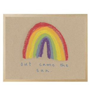 Out came the sun rainbow in pastels