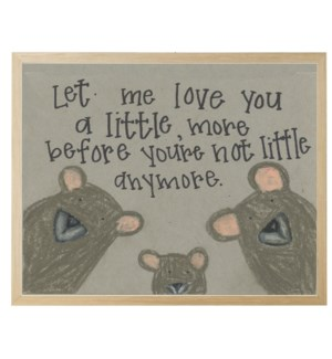 Let me love you bear family in pastels