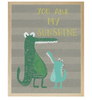 You are my sunshine alligators in pastels
