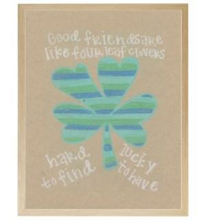 Four leaf clover in pastels