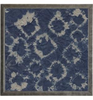 Shibori Indigo # 5 on Linen