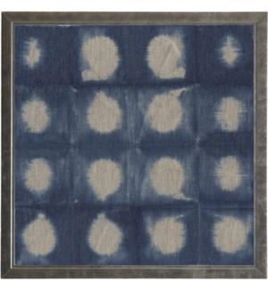 Shibori Indigo # 6 on Linen