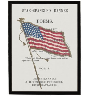 American Flag on Star Spangled Banner page