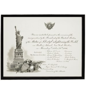 Inaugural Statue of Liberty invitation