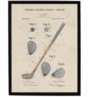 Watercolor Golf Club Patent