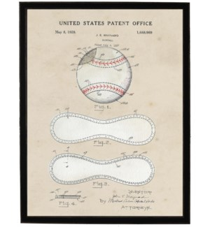 Watercolor Baseball Patent
