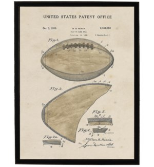Watercolor Football Patent