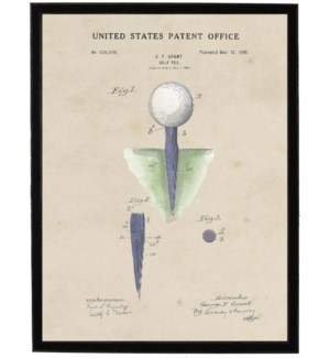Watercolor Golf Tee Patent