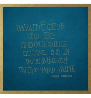 Kurt Cobain hand lettered quote