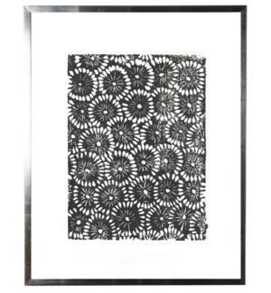 Black and white block print A