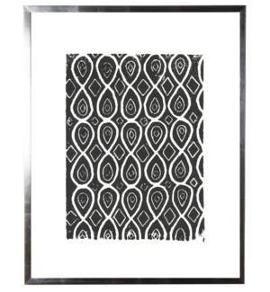 Black and white block print C