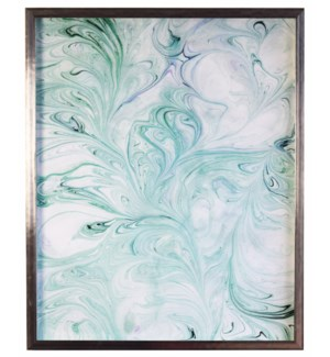 Soft Green and Spa Marbled art