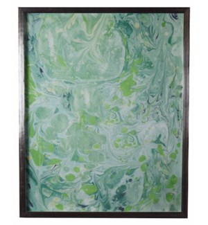 Spa and Green Marbled art