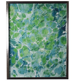 Navy and Green Marbled art