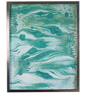 Turquoise Marbled art