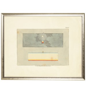 Rectangle with two small rectangles inside prismatic image sloped silver shadow box frame