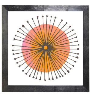Pink, Orange and Black circle