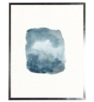 Dark blue, grey, and white shape
