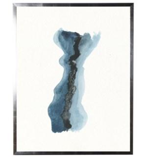 Dark blue, black, and light blue long shape