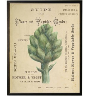 Watercolor Artichoke on title page