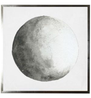 Watercolor grey moon
