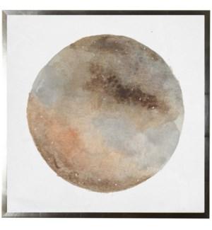 Watercolor orange moon