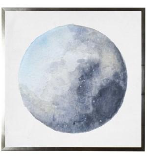 Watercolor blue moon